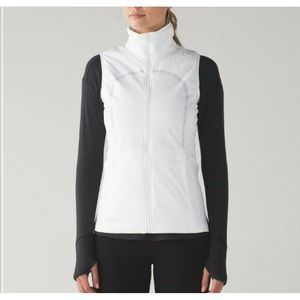 Lululemon White Run For Cold Vest Water Repellent
